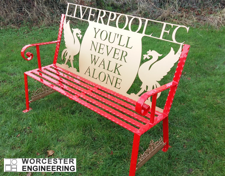 Liverpool Football Club bench