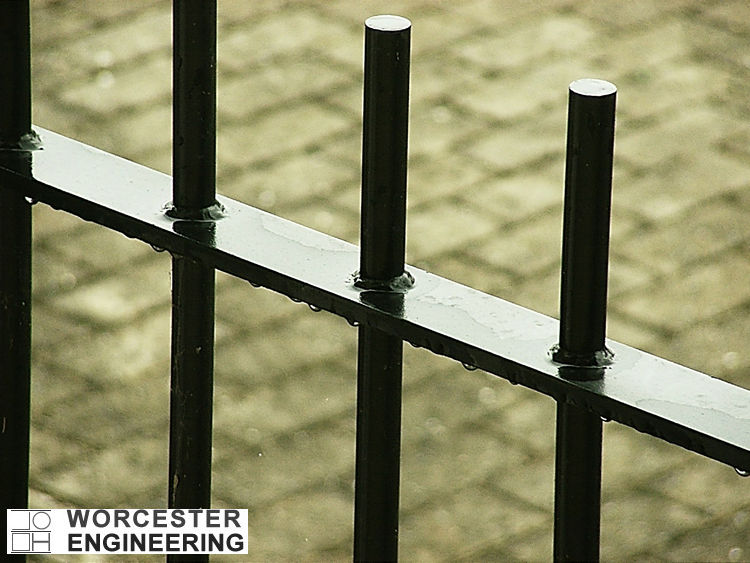 RAILINGS FABRICATED AND POWDER COATED